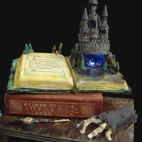 Haunted Castle Cake Theme At The Ncacs 2010 Live Challenge Castle themed cake at the NCACS 2010 live challenge. We had 3 hours to put it together. Inside the castle we made the ghosts of Arundel...