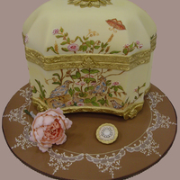 Best In Show At The Ncacs In Virginia all in fondant, gumpaste flowers and pin, brushed embroidery