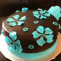 Black And Turquoise Fantasy Flowers