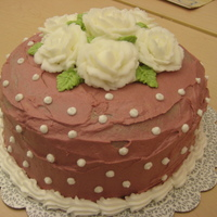 Rose Cake This was made as the final cake for the Wilton I Class.