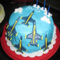 Blue Angels Cake I made this cake for my boyfriend who was leaving for OCS as a Naval Flight Officer in the Navy, and choosing the precision flying team of...