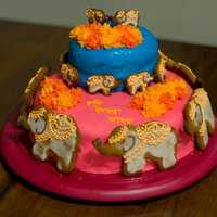Indian Elephants I made this cake for my friend's birthday, and chose the theme based on his upcoming trip to India in a few weeks. The cake is...
