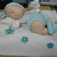 Baby Shower -Baby Boy Baby boy sleeping. It's all make in gumpate. Bebe durmiendo. Todo hecho en pasta de goma.