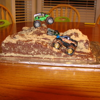 Monster Truck Cake I made this cake for my son, last minute (the day before) I had different plans for his cake, but we had to change the date of his party...