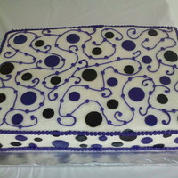 Circles And Swirls Cake This was made to accompany a graduation cake.