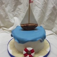 Sail Boat i saw a similar cake her on CC and thought it would be perfect for a family members up coming birthday. i made it much smaller as it doesnt...