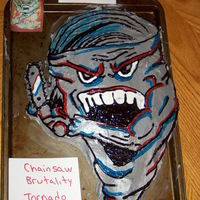 The Devil Wears Prada (Band) Cake This cake is inspired by a line (Chainsaw brutality, tornado strength) from one of their songs. It is also a design that appears on some of...