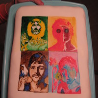 Beatles Cake Andy Warhol's image is the inspiration