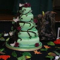 Forest Themed Wedding Cake Based on the Pink Cake Box's Enchanted Forest cake http://blog.pinkcakebox.com/enchanted-forest-themed-wedding-cake-2009-11-09.htm A 5...