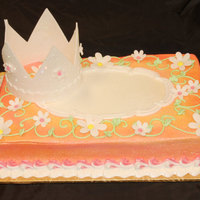Princess And Flowers This cake is covered in buttercream and then airbrushed. The crown and flowers are gumpaste. This cake was recently featured in Modern...