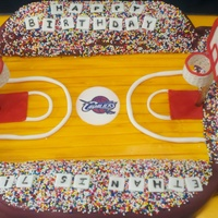 Basketball Court Cake  I volunteered to make this cake for Icing Smiles. The recipient asked for a basketball court cake with Cleveland Cavalier colors. Thanks to...