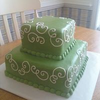 Simple Bridal Shower light green buttercream