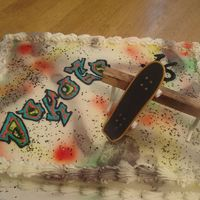 Skateboarding Graffiti Cake