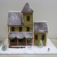 My First Gingerbread House I made this gingerbread house for a culinary course I was taking last year and donated it to Thanksgiving Point to be auctioned off for...