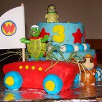 Wonder Pets Buttercream with mmf decorations. My first time making fondant.