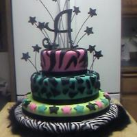 Asliegh's 17Th Zebra and leopard print with stars.