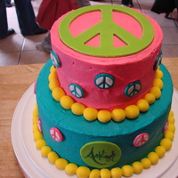 Ashliegh's 16Th Birthday Peace sign cake