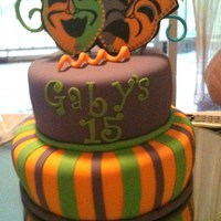 Mardi Gras Cake This one was a cake for a young man...the theme was mardi gras but wanted something simple.