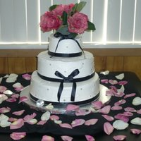 Pink And Black Theme this is my 2nd wedding cake i made...