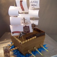 Pirate's Ship Ship made of butter cake and cookies