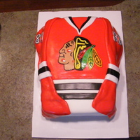 Chicago Blackhawks Jersey   Red mmf, Indian face made from fondant and royal icing