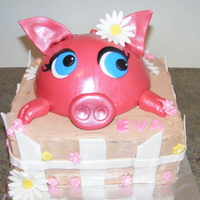 My Little Piggy Piggy is choc. cake covered with fondant, the rest is choc. mousse and fondant accents.