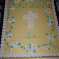 First Communion/baptism Cake   Cake frosted and decorated in buttercream.
