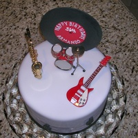 Armando's Cake Fondant with GP Album and musical notes