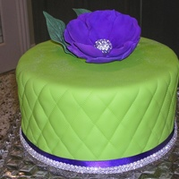 Meredith's Cake I wanted the color of this cake to really stand out. Fondant with GP Flower. Thanks for looking!
