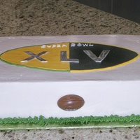 Superbowl Forty-Five BC with Fondant elements