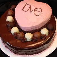Love This is a homemade chocolate buttermilk cake with my own recipe for raspberry cream cheese frosting/filling The cake is glazed with...