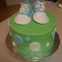 Baby Boy Shoes For Laytham This cake was for another one of my best friends baby showers (I swear I'm the only one that's not pregnant right now!). I made...