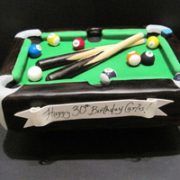 A Little 8Ball Anyone? This cake was a super fun project!! Even my hubby got into it by going Duff style with his power tools and made legs for it to stand on....