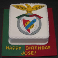 Go Benfica Go!! This cake was made for a gentleman who is a great Benfica fan (this is a portuguese soccer team). He loved it so much he saved the logo. It...