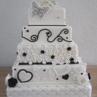 Black And White Weddingcake I made this cake for my brother and sister-in-law.