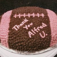 Breast Cancer Football Football cake pink laces...for breast cancer awareness!