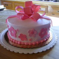 Pink Flowers And Bows a friend called w/ a cake idea she saw on a popular cake show. she described it but i was unable to find an actual photo. when she saw it,...