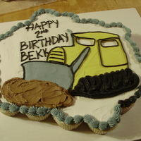 Bulldozer Cupcake Cake i LOVE cupcake cakes! so easy to do! this one was for a little guy's bulldozer party.