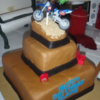 Dirtbike Jumper Made this cake for a friends sons 5th birthday. Homemade MMF.
