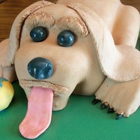 First Birthday A friend asked for a puppy cake for her son for his first birthday. Next time I will save the collar for the neck to cover the joint. Since...