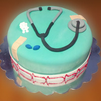 Nurse Cake We made this cake on a whim for my mom to take into work. She is an RN and it was a huge hit!