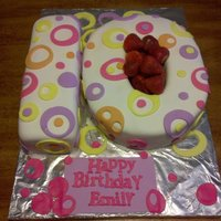 10Th Birthday Cake This is a white cake with buttercream and fresh strawberry filling.