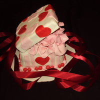 Valentine's Day Gift Box Cake
