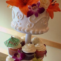Hawaii Cupcake Tower
