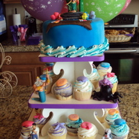 Little Mermaid Cupcake Tower