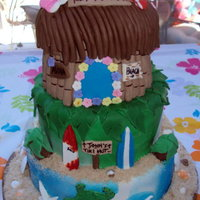 Tiki Hut Retirement Cake  This cake was for a Retirement Party; it's 3 tiered, covered in fondant and decorated in fondant accents. The retiree loves Hawaii and...