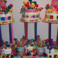 Candyland Theme This is one of my biggest cakes that I have done and so far has been my best work . I have only been doing this since September of 09&#039...