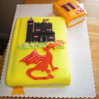 Fairytale Book Cake Made for a little girl who loves dragons, fairytales and reading books.