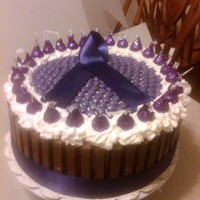 Candy Bar Cake Relay for life auction cake