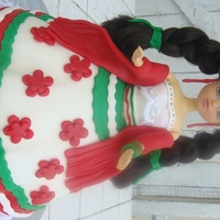 Mexican Doll Cake it's a cultural and traditional mexican costume...! my first doll..!